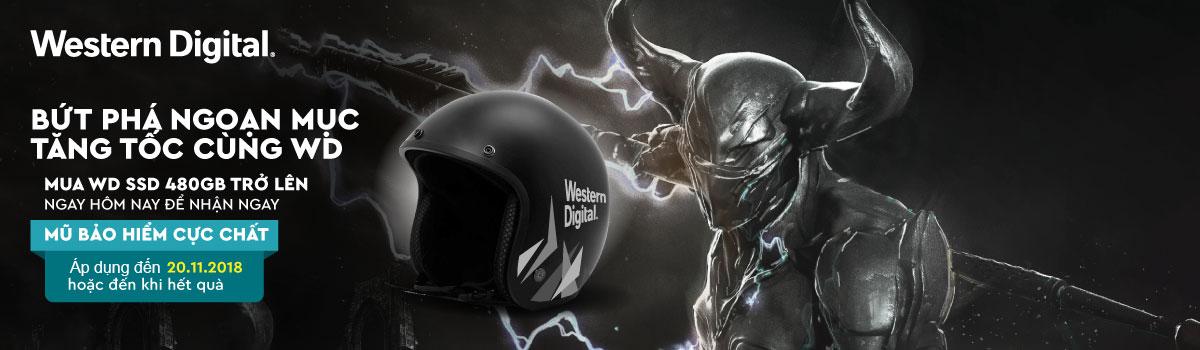SSD WD dung lượng lớn hơn 480GB tặng mũ bảo hiểm cực chất