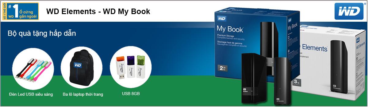 Ổ cứng gắn ngoài WD My Book WD Elements giá rẻ