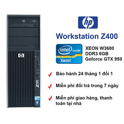 Máy trạm HP Z400 workstation chơi game cpu 6 core VGA GT630