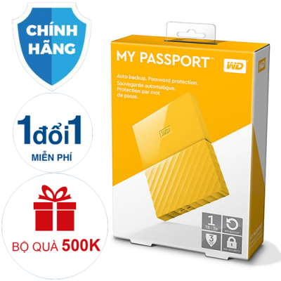 Ổ cứng di động WD My Passport 1TB yellow