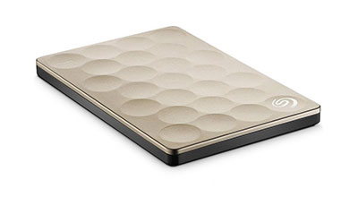 Ổ cứng di động Seagate Backup Plus Ultra Slim 1TB Gold
